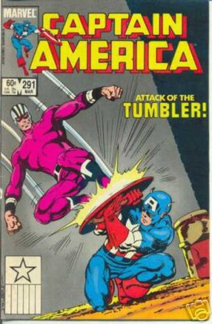 Captain America 291 - Marvel - Attack - Tumbler - Defend - Shield - John Byrne