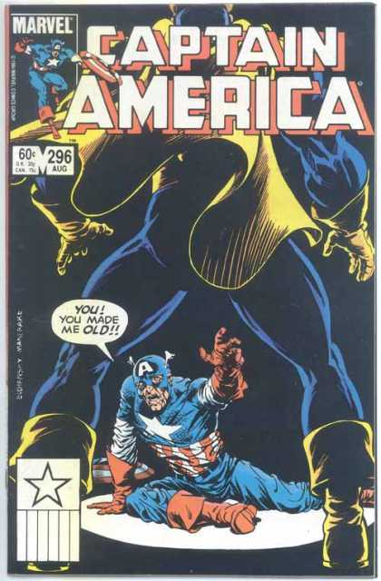 Captain America 296 - You Made Me Old - Spot Light - Getting Old - 296 Aug - Blue Yellow