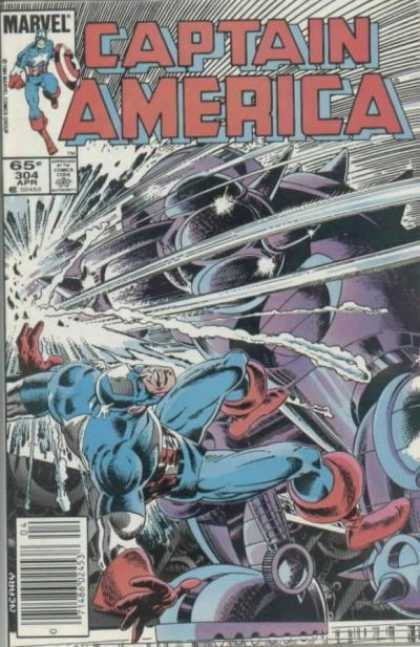 Captain America 304 - Clash - Grape Smash - Down And Out - Lava Robot - Astroid Maniac