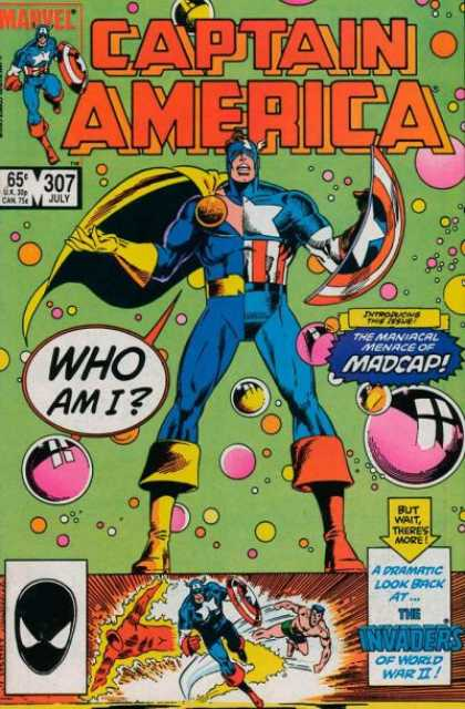 Captain America 307 - Captain America - Who Am I - 307 July - The Maniacal Menace Of Madcap - Superhero