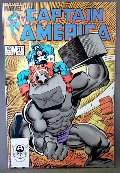Captain America 311 - Marvel - 311 Nov - Mask - Fight - Bricks