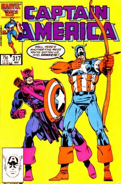 Captain America 317 - Hawkeye - Bow - Shield - Arrow - America