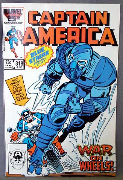 Captain America 318 - Blue Strak - Gas Mask - Motorcycle - New Headgear - Armour