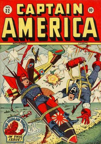 Captain America 32 - Torpedo - Man Tied Up - Water - Beach - Fighter Planes - Steve Epting