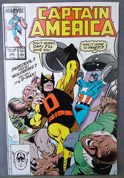 Captain America 328 - D-man - Fistfight - Captain America Captured - Wannabe - Humor