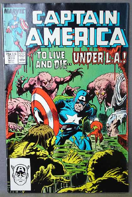 Captain America 329 - To Live And Die - Under La - Marvel - Sewer - Corpses