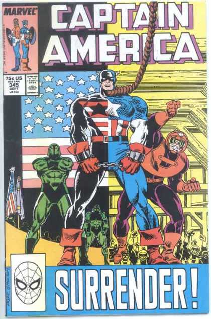 Captain America 345 - Marvel - September - American Flag - Noose - Chain