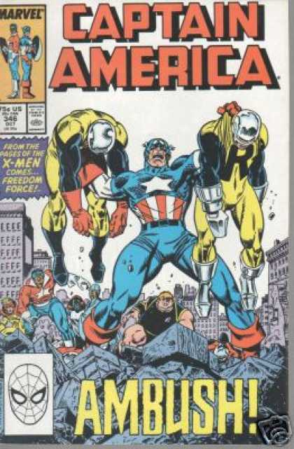 Captain America 346 - Americas Hero - Rise Justice - Crime Punisher - The Ruler - Stars And Stripes Defender