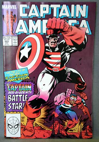 Captain America 349 - Shield - Captain America - Marvel - Spiderman - Sidekick