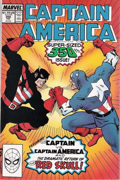 Captain America 350 - Marvel - Battle - Super-sized 350th Issue - Costumes - Red Scull