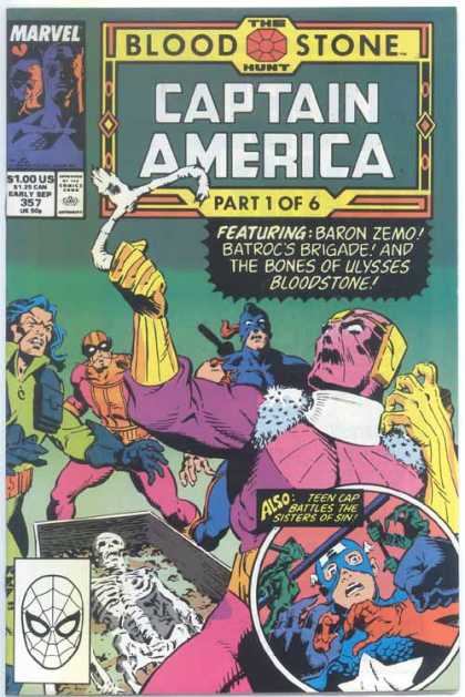 Captain America 357 - Marvel - Blood Stone - The Hunt - Superhero - Approved By The Comics Code