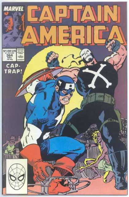 Captain America 364 - Marvel - Shield - Cap-trap - Fight - Comics Code Authority