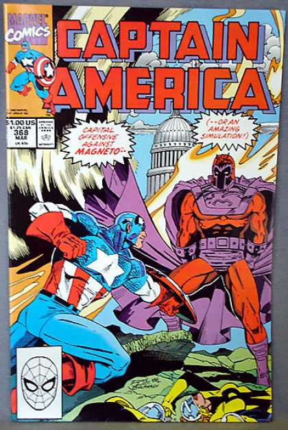 Captain America 368 - Marvel - Magneto - Amazing Simulation - Attack - White House - Ron Lim