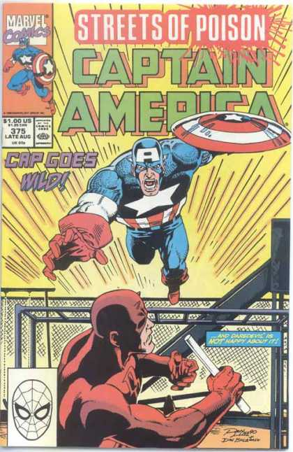 Captain America 375 - Streets Of Poison - Marvel - Cap Goes Wild - Costumes - Superhero - Ron Lim