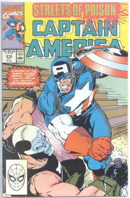 Captain America 378 - Skull Mask - Shield - Bleachers - Knife - Stars - Ron Lim