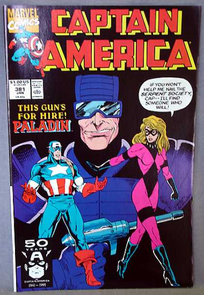 Captain America 381 - Paladin - Hire - Serpent Society - Gun - Find - Ron Lim