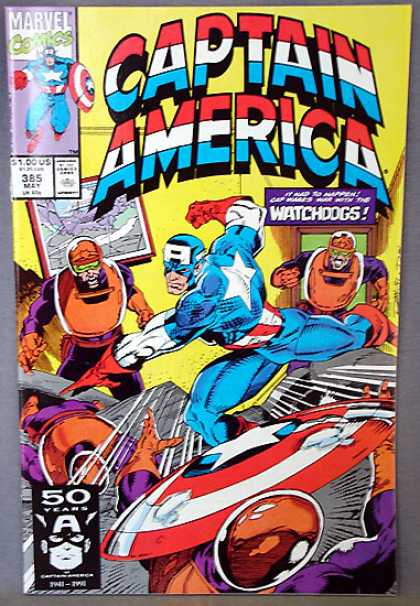 Captain America 385 - Blue Suit - Marvel - Watchdogs - White Star - Foes - Ron Lim