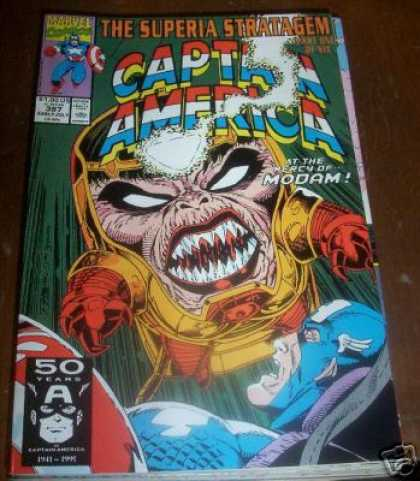 Captain America 387 - The Superia Stratagem - At The Mercy Of Modam - 50 Years - Anniversary - 1991 - Ron Lim