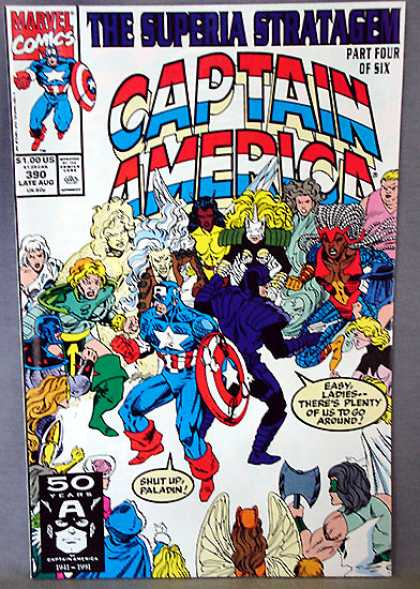 Captain America 390 - Wooing America - Stand Back Ladies Part 1 - The All American Boy - Americas Mojo - Irrisistable Democracy - Ron Lim