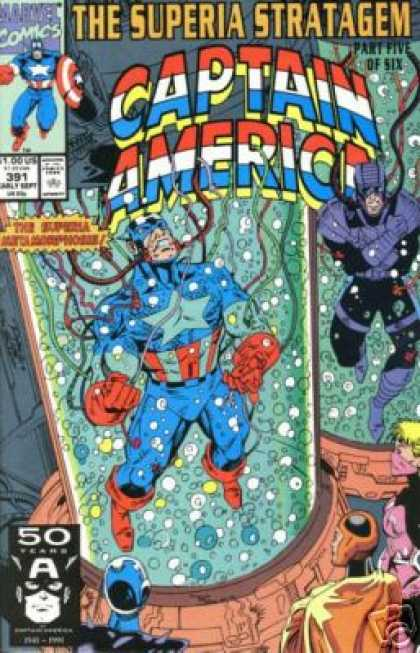 Captain America 391 - Marvel - Marvel Comics - Captain America - Superia Stratagem - Water Tank - Ron Lim