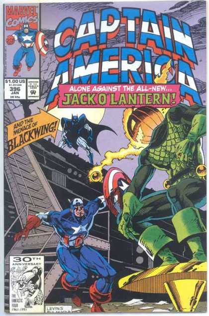 Captain America 396 - Jack Olantern - Blackwing - Pumpkin - Shield - Moon