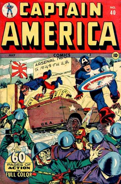 Captain America 40 - No 40 - July - Arsenal - Japanese Flag - 60 Pages Of Action In Full Color - Steve Epting