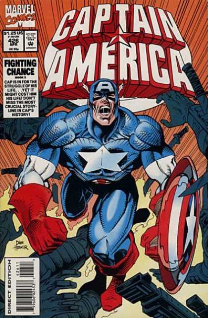 Captain America 426 - Muscular Hero - Shield - Battle Cry - Power - Star Costume