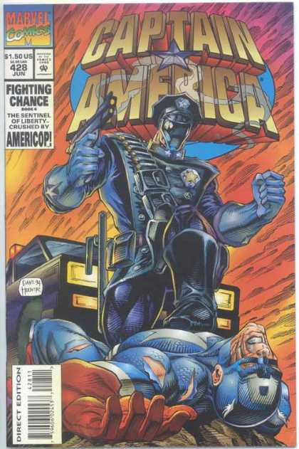 Captain America 428 - Americop - Fihgting Chance - Book 4 - Sentinel Of Liberty - Marvel Comics