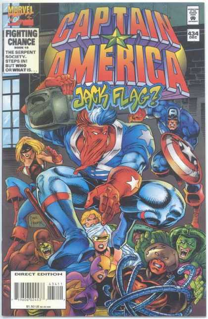 Captain America 434 - Red Mask - Shield - Marvel - Tenticles - Radio