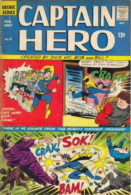 Captain Hero 3 - Dick - Vic - Bob - Bill - Crash