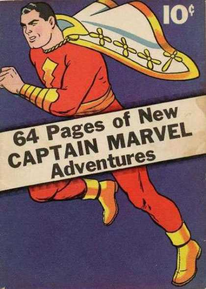 Captain Marvel Adventures 1 - Cape - Shoes - Red - Run - Muscle - Clarence Beck