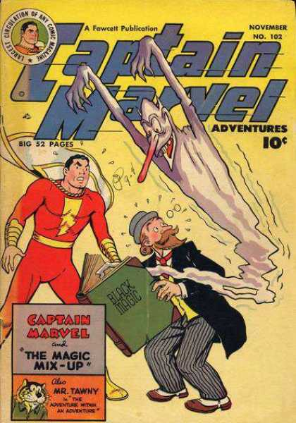 Captain Marvel Adventures 102 - November - No162 - Adventures - Big 52 Pages - Black Magic - Clarence Beck