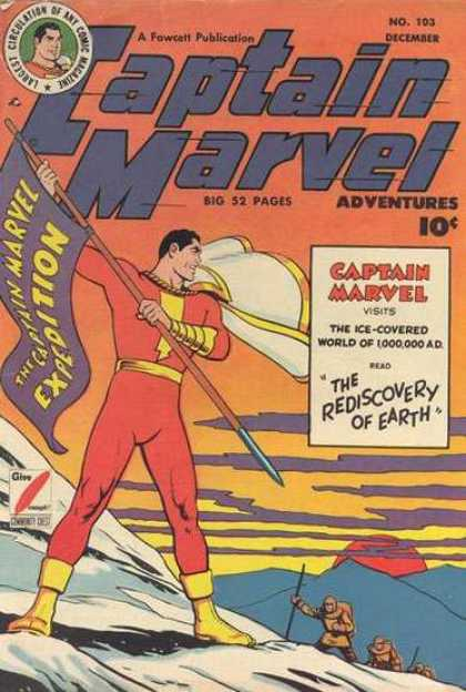 Captain Marvel Adventures 103 - Captain Marvel - The Rediscovery Of Earth - Clarence Beck
