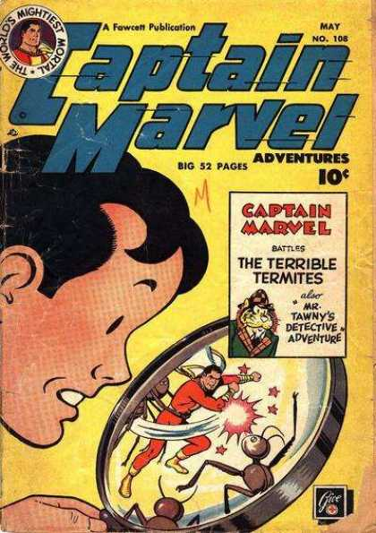 Captain Marvel Adventures 108 - Ant - Tiny - Mini - Boy - Fight - Clarence Beck