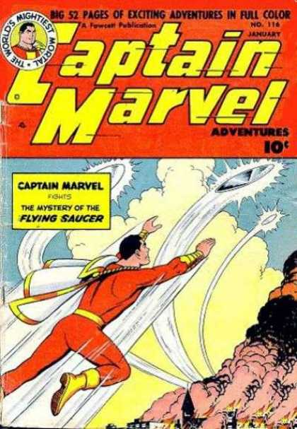 Captain Marvel Adventures 116 - The Worlds Mightiest Mortal - Flying Soccer - No116 - January - Big 52 Pages Of Exciting Adventures In Full Color - Clarence Beck