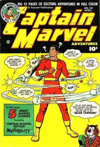 Captain Marvel Adventures 119 - Question Mark - Superman - Lion - Yellow Shoe - Rope - Clarence Beck