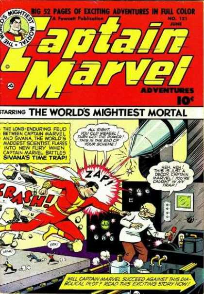 Captain Marvel Adventures 121 - Worlds Mightiest Mortal - Sivana - Time Trap - Diabolical Plost - Captain Marvel - Clarence Beck