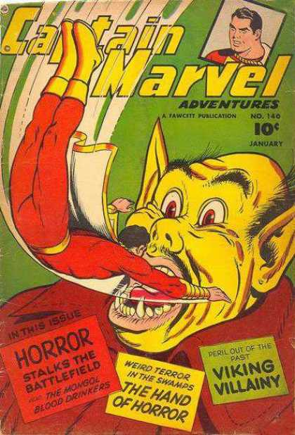 Captain Marvel Adventures 140 - Adventures - Monster - Horror - Viking Villainy - The Hand Of Horror - Clarence Beck