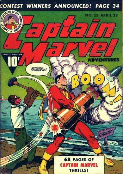 Captain Marvel Adventures 23 - Germany - Boom - Thrills - No 23 - Attaboy Steamboat - Clarence Beck
