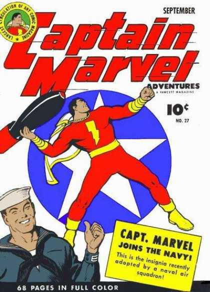 Captain Marvel Adventures 27 - September - No 27 - Joins The Navy - Rocket - Sailor Man - Clarence Beck
