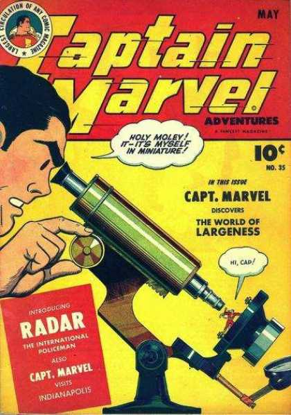 Captain Marvel Adventures 35 - Microscope - Man - Mirror - Machine - Equipment