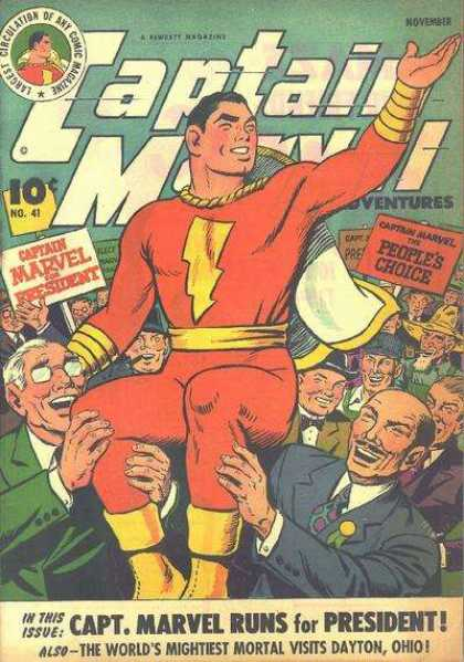 Captain Marvel Adventures 41 - November - People Choices - President - N041 - Largest Circulation Of Any Comic Group