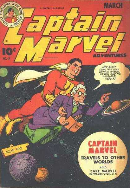 Captain Marvel Adventures 44 - No 44 - Outer Space - Captain - World Travels - Washington Dc - Clarence Beck