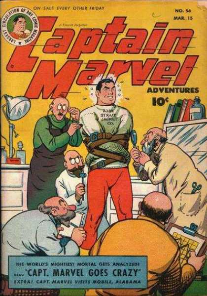 Captain Marvel Adventures 56 - Strait Jacket - Doctors - Crazy - Books - Microscopes - Clarence Beck
