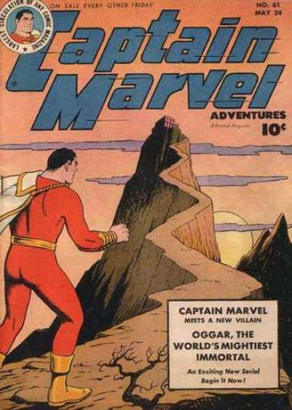 Captain Marvel Adventures 61 - Hill Claim - Superpower Man - Real Hero - Sun Set - Narrow Path - Clarence Beck
