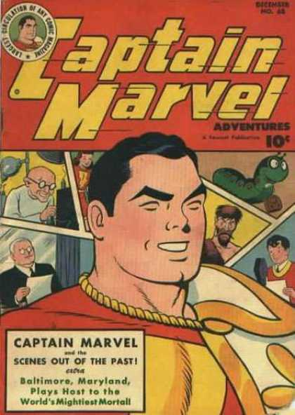 Captain Marvel Adventures 68 - Scenes Out Of The Past - Baltimore - Maryland - Worlds Mightiest Mortal - Green Worm - Clarence Beck