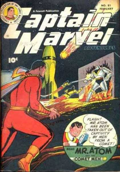 Captain Marvel Adventures 81 - Agent Spark - Lightning Star - Speedo Master - Mission Mars - Superzoomer - Clarence Beck