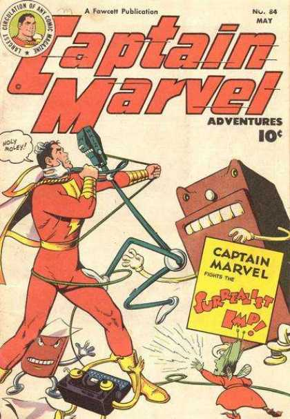 Captain Marvel Adventures 84 - May - Parking Meter - Speech Bubble - Superhero - Fawcett - Clarence Beck