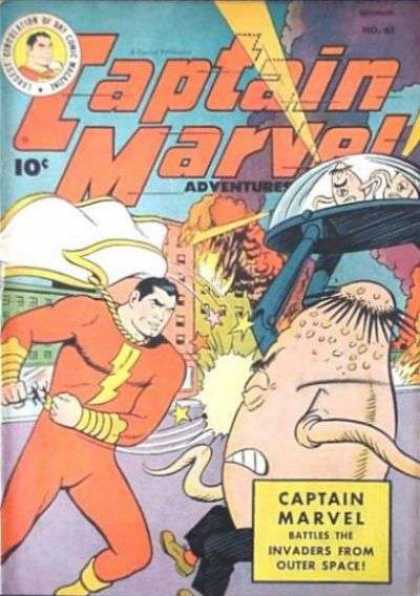 Captain Marvel Adventures 86 - Outer Space - Aliens - Cape - Lighting Bolt - Stars - Clarence Beck