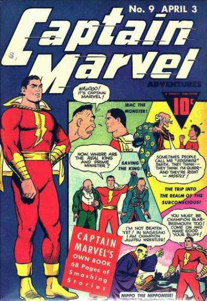 Captain Marvel Adventures 9 - Superhero - American - Action - Cape - Collection - Clarence Beck